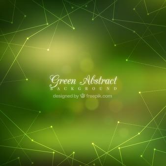 Sfondo verde unfocused con le linee geometriche