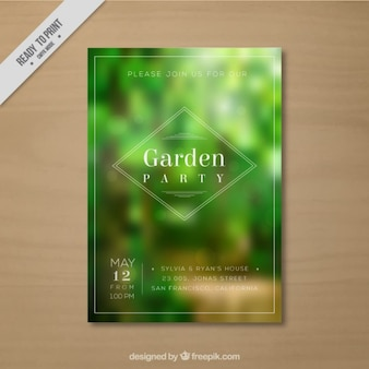 Unfocused vegetation garden party card