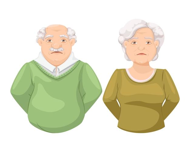 Unhappy elderly people