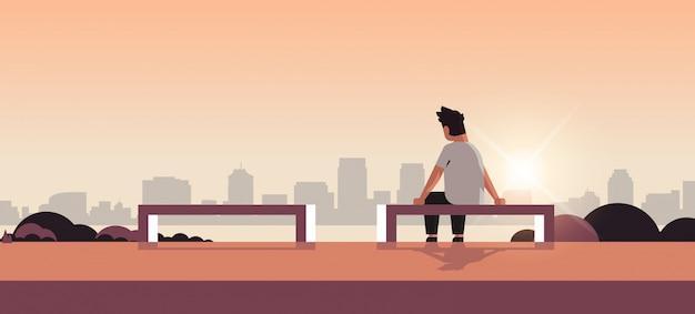 관계 문제가 우울증에 불행 슬픈 남자