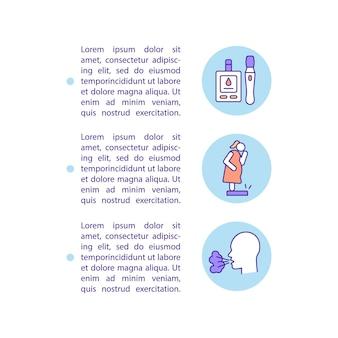 不健康な行動の結果のコンセプトラインアイコンとテキスト