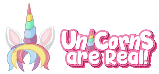 Unicorn are real logo in pastel color with cute unicorn