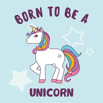 Unicorn дизайн Бесплатные векторы