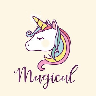 Unicorn background design