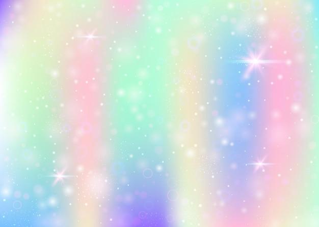Unicorn background with rainbow mesh.
