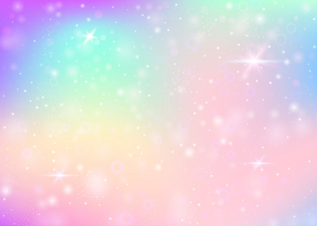 Unicorn background with rainbow mesh.