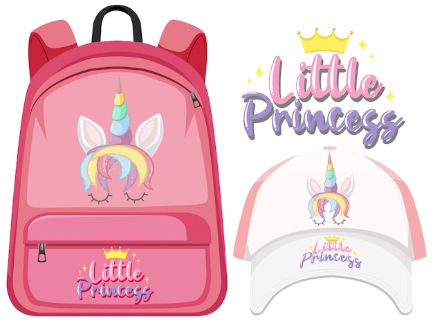 Unicorn backpack and cap