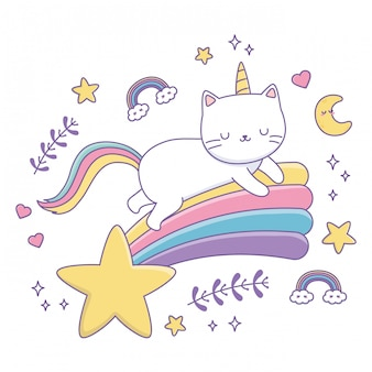 Unicorn cat cartoon