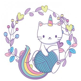 Мультяшный кот единорога