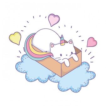 Unicorn cat cartoon