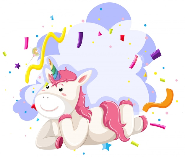 A unicorn character party theme