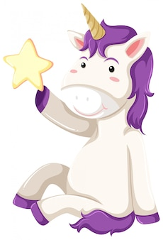 A unicorn character on white background