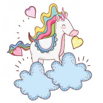 Unicorn on clouds