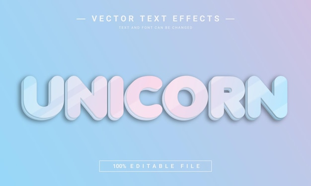 Unicorn colorful text effect