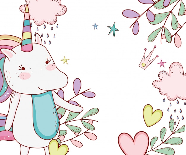 Unicorn cute cartoon