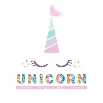 Unicorn cute catroon character.