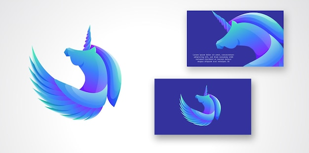 Unicorn gradient colorful