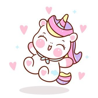 Unicorn happy emotion kawaii animal