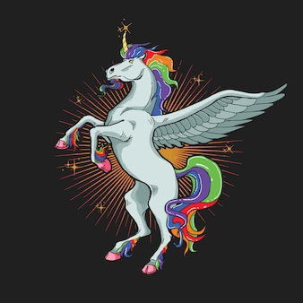 Unicorn horse illustration  graphic