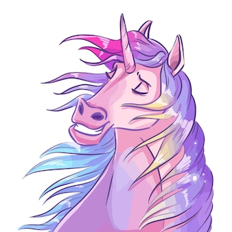 Unicorn illustration isolated on white