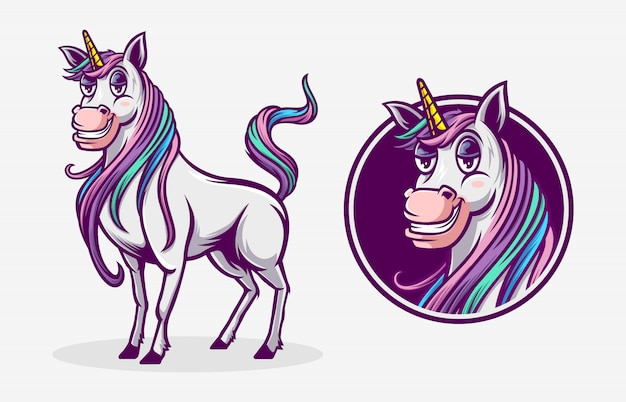Unicorn illustration mascot