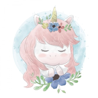 Unicorn is cute happy
