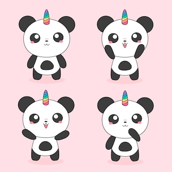 Unicorn magical pandas