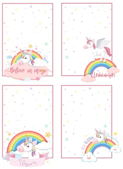Unicorn on note template