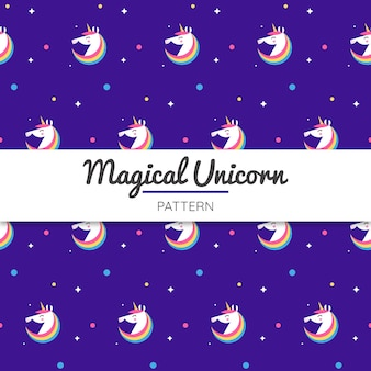 Unicorn pattern with stars