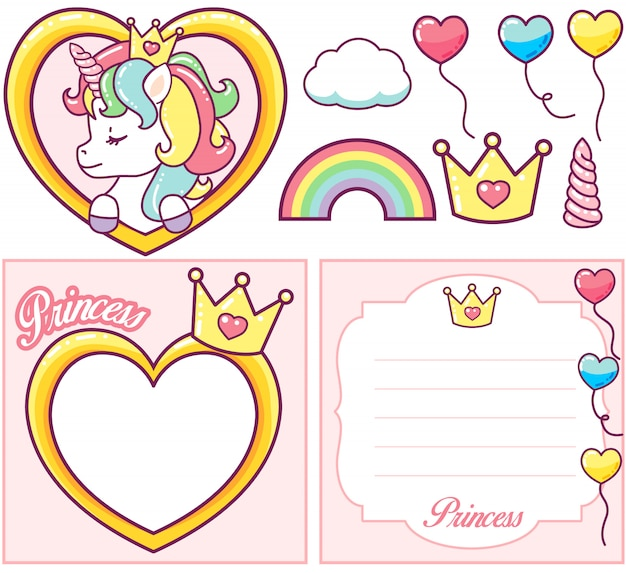 Unicorn princess party set