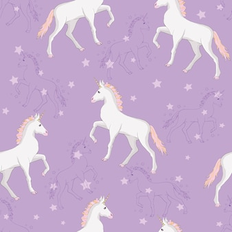 Unicorn and rainbow seamless pattern