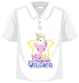 Unicorn shirt  on white background