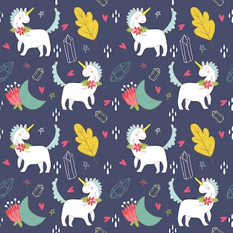 Unicorn , star and moon pattern/background