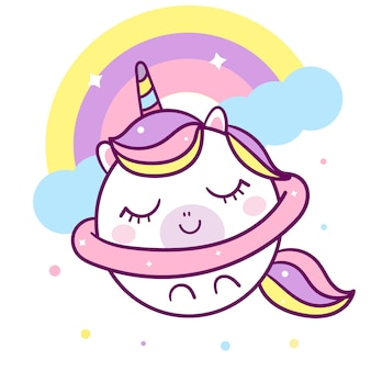 Unicorn vector with star
