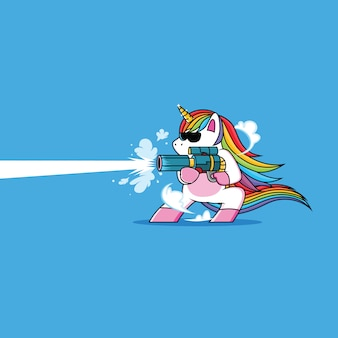 Unicorn with gun