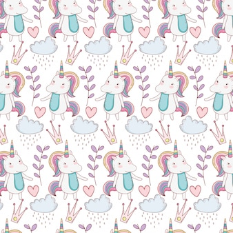 Unicorns fantasay background