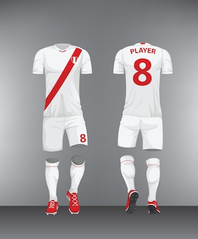 Uniform football peru vector
