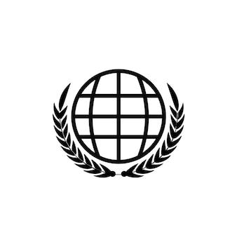 Союз минимальный дизайн логотипа векторные иллюстрации