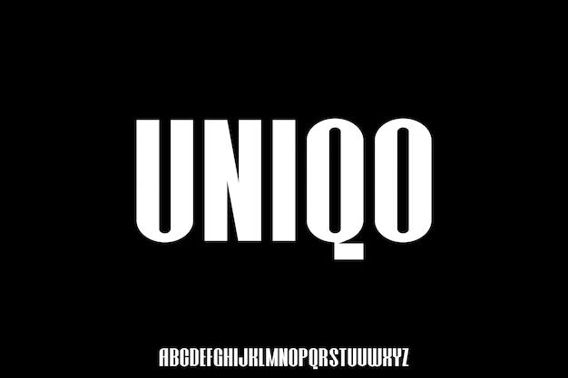 Uniqo городской конденсированный жирный шрифт