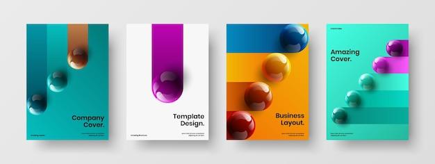 Unique 3d balls annual report layout collection