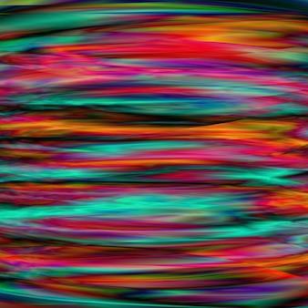 ユニークな抽象的なメッシュの背景。光の屈折と干渉の設計。色があふれています。グリッチ効果。スクエアカード。フルカラーの質感。ベクトルイラスト。