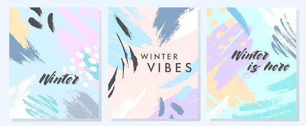 ユニークな芸術的な冬のカード