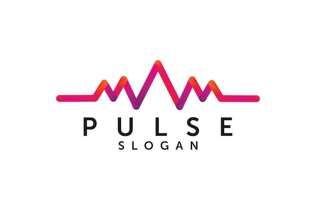 Unique audio pulse or wave logo design element