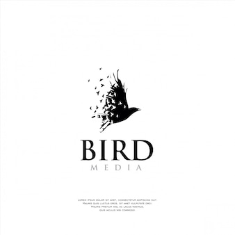Unique bird logo template