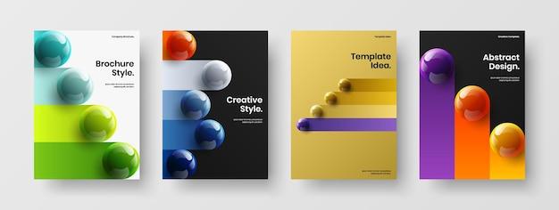 Unique book cover design vector template set
