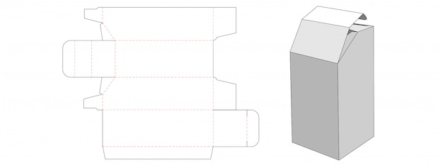 Unique box die cut template design
