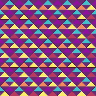 Unique colorful geometric triangle seamless pattern