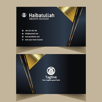 Unique and creative business card and visit card template