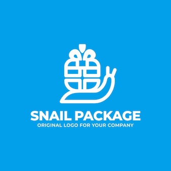 Unique delivery logo with the concept of a snail carrying orders