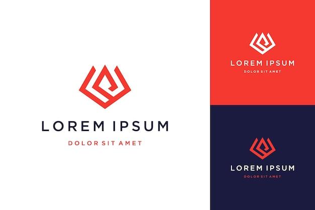 Unique design logo or monogram or initial letter vp